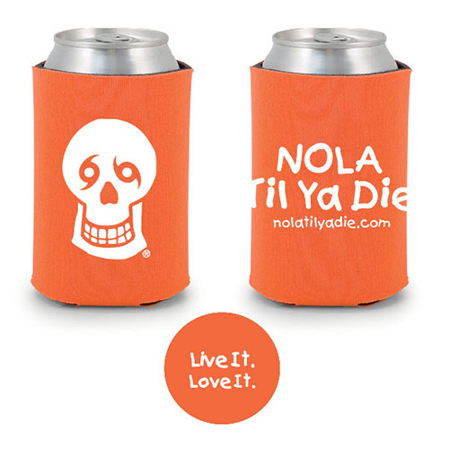 Logo Live It Love It Koozie (orange)