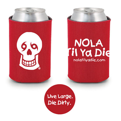 NTYD Logo Live Large Die Dirty Koozie (Red)