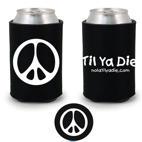 Peace TYD Koozie (black)