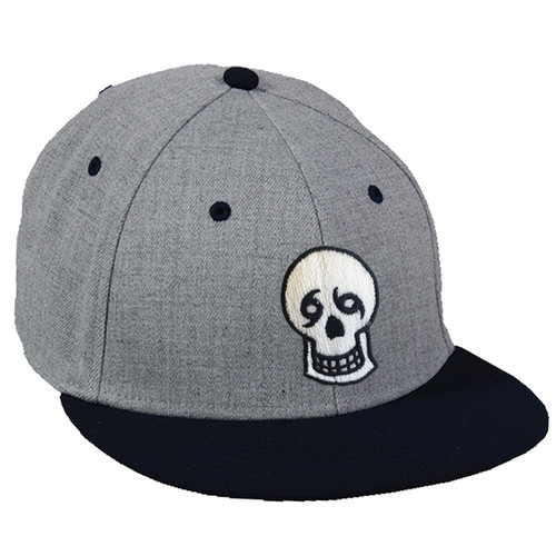Skull Fitted Hat (Grey/Black)