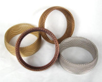 "1"" Wide Domed Metal Mesh Bangle"