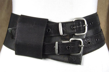 Oxy Black with Silver Buckles