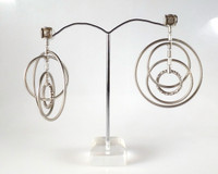 Large Spinning Hoop Earrings
