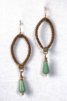 Antique Brass with Green Aventurine