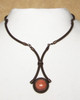 Brown with Pink Aventurine. This natural stone can vary from creamy orange to coral.