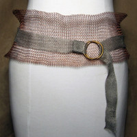Copper Belt with White Metal Ties