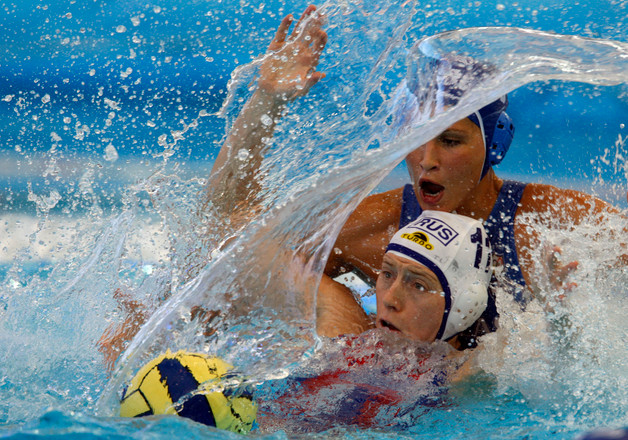 Skills & Drills: 2-Player Water Polo Training Drill