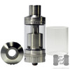 MegaMaus RTA by Cloud Chasers Inc. shown with spare glass and 510 drip tip adapter