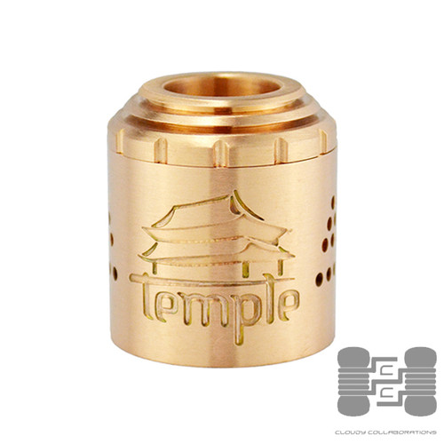 Temple RDA Sleeve and AFC by Vaperz Cloud shown in Copper