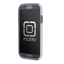SAMSUNG GALAXY S4 INCIPIO DUALPRO HARD SHELL CASE WITH SILICONE CORE - CHARCOAL GRAY AND OPTICAL WHITE