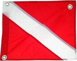 "Dive Flag 30"" x 36"" Nylon With Stringer"