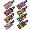 LJY Travel Luggage Suitcase Labels ID Tags Business Card Holder, Set of 8