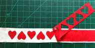 Hearts and Up-Down Heart Cutout Trim