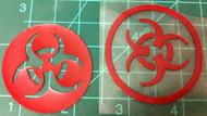 Biohazard Symbol Overlay