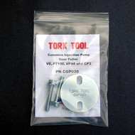Tork Tool CGP020 injection pump comes with the CGP020 injection pump, instructions, 2 hardened and plated flange head bolts.