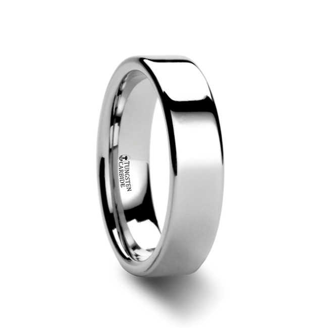 The Harpalyce Pipe Cut White Tungsten Carbide Ring from Vansweden Jewelers