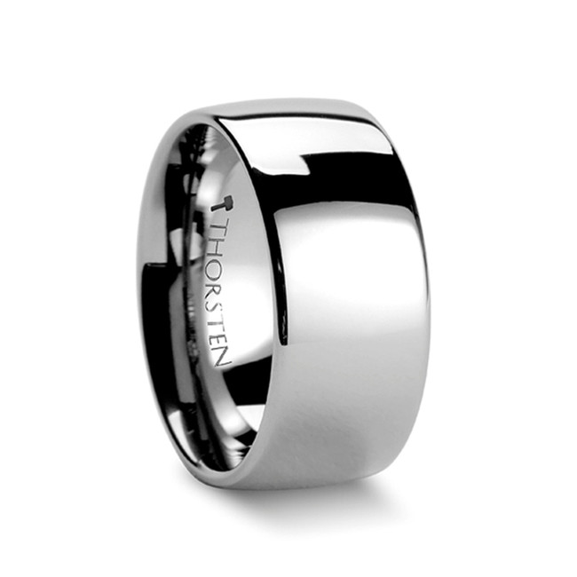Paeon Domed Tungsten Carbide Ring with Polished Finish from Vansweden Jewelers