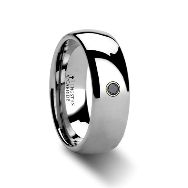 Thoas Rounded Black Diamond Tungsten Carbide Ring from Vansweden Jewelers