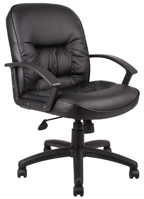 BOSS Chair B7307 EXECUTIVE MID BACK LEATHER W/KNEE