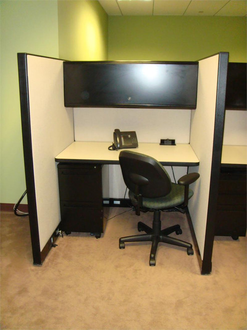 used ki telemarketing cubicles with surface mounted power block