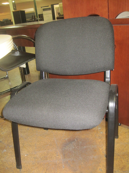 used armless black fabric side chair orlando office