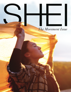 "86 page, full-color magazine featuring photoshoots and articles centered around the theme of ""Movement"""
