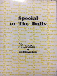 Look back on the highlights of the first 100 years of The Michigan Daily, commemorated in this soft-cover book.