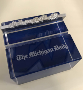Michigan Daily Blue Square Paperweight