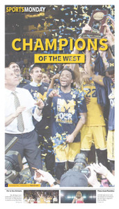 March 26, 2018 Sports Monday Front Page (Pick Up Only)
