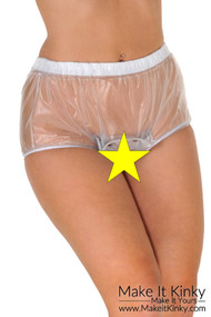 Open crotch popper pants PA25