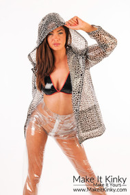Leopard Print PU Jacket -IN STOCK-