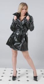 Traditional Short PVC Trench Mac -IN STOCK-