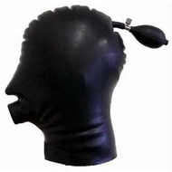 Inflatable Latex Hood with Hollow Gag -IN STOCK-