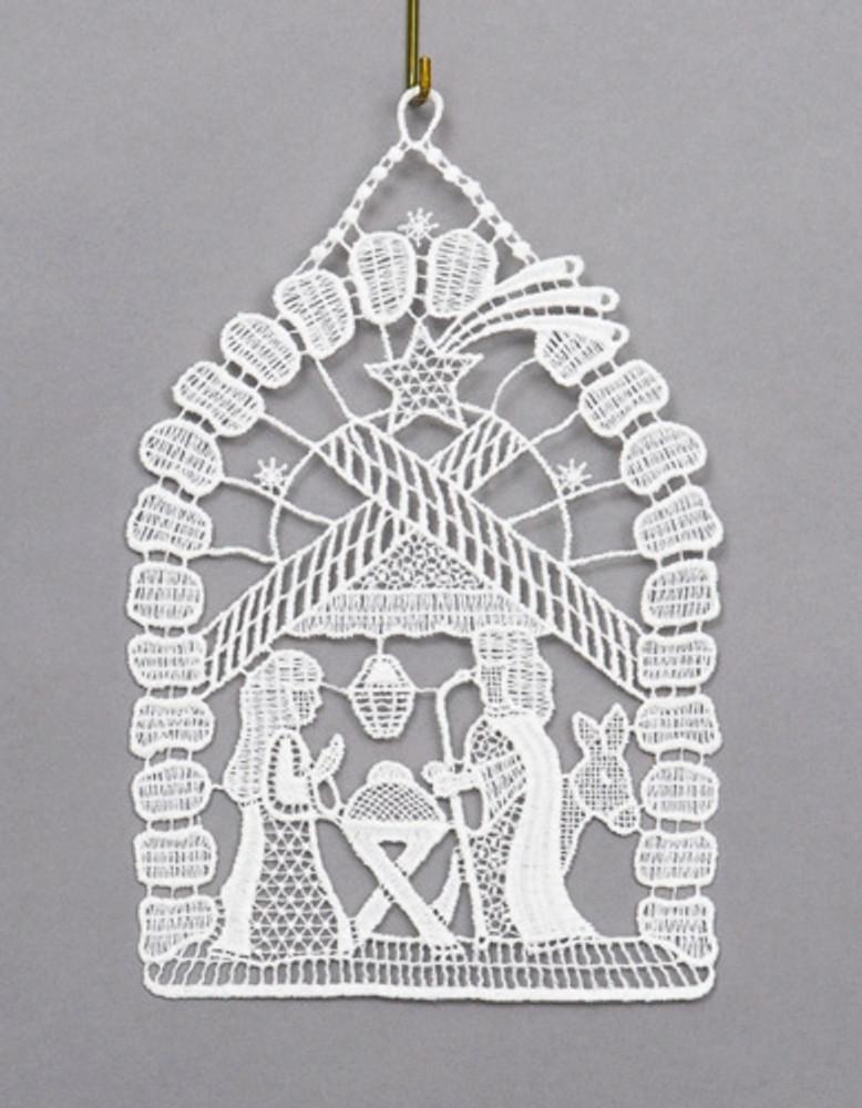 Window Picture, White Nativity