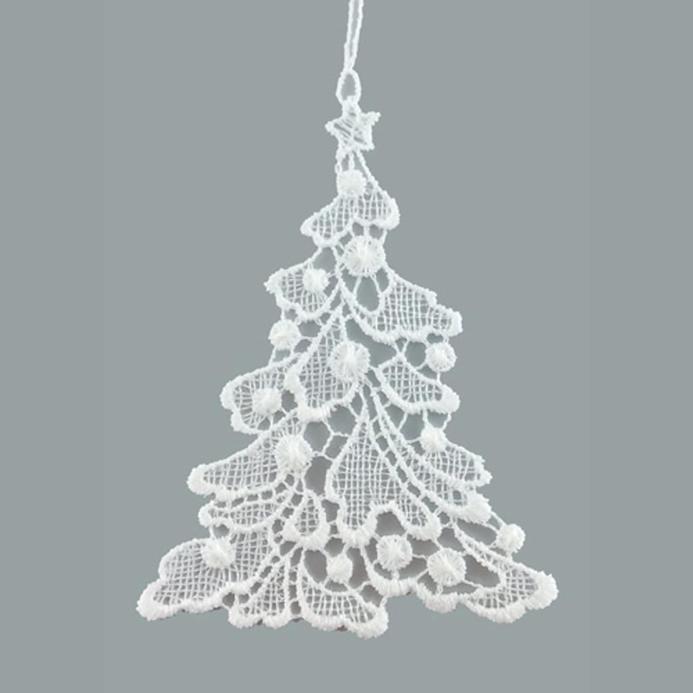 Christmas Tree Linen Ornament