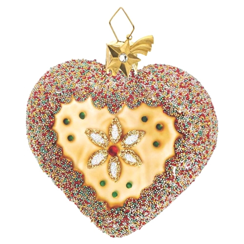 Gingerbread Heart with Beads