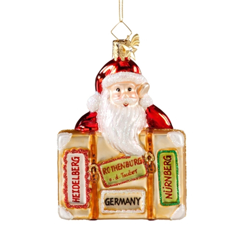 Santa with Germany Suitcase