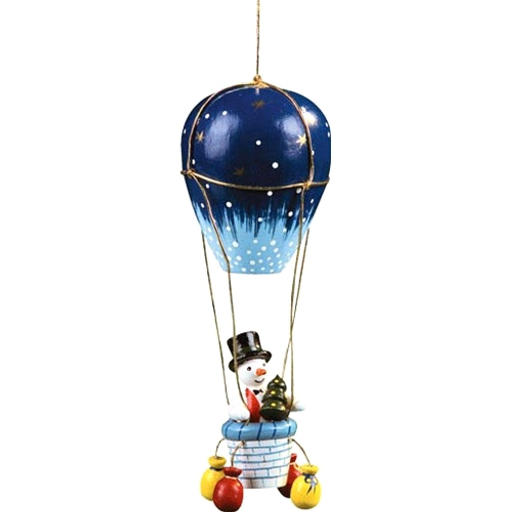 Snowman in Air Balloon