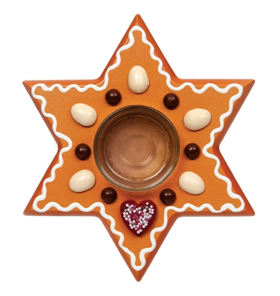 Gingerbread Star Candle Holder