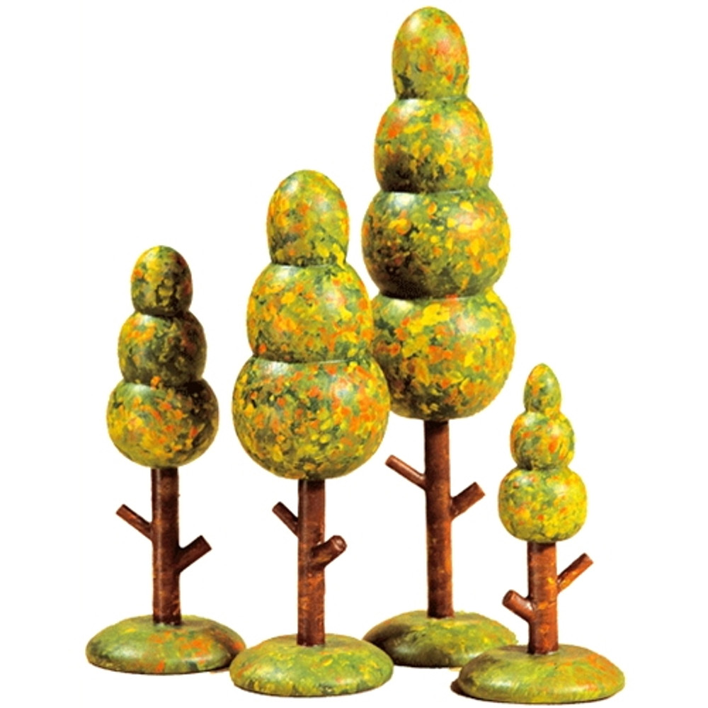 Fall Trees (set of 4)
