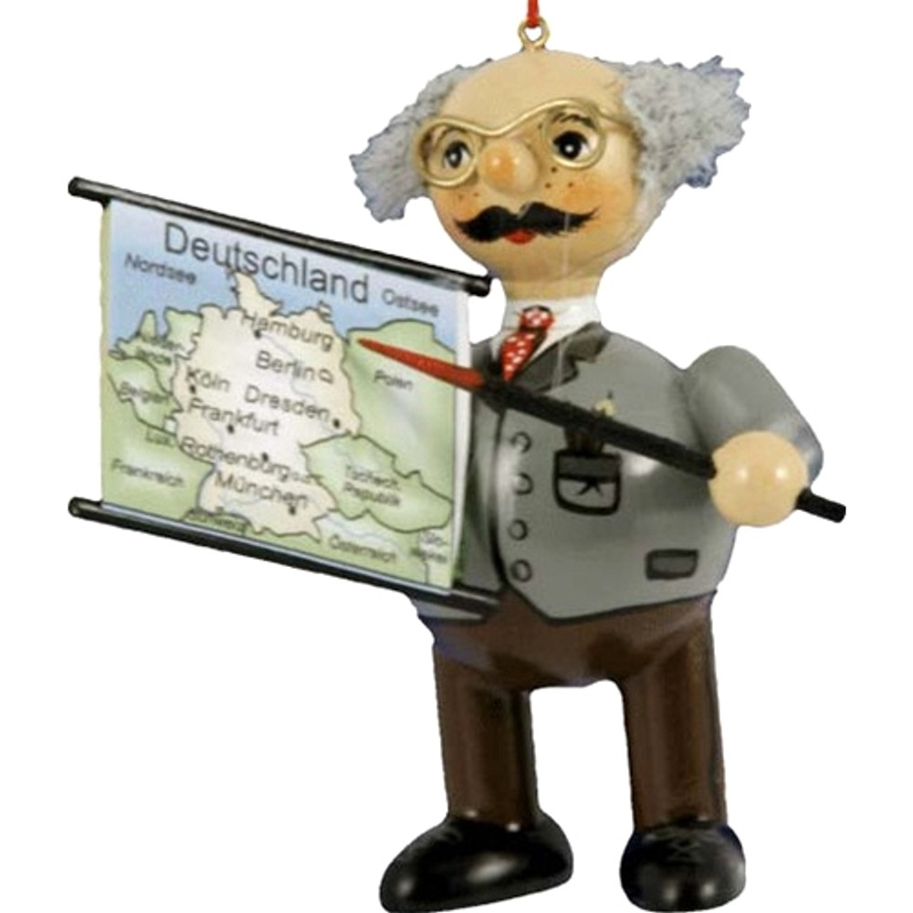 Teacher with Map
