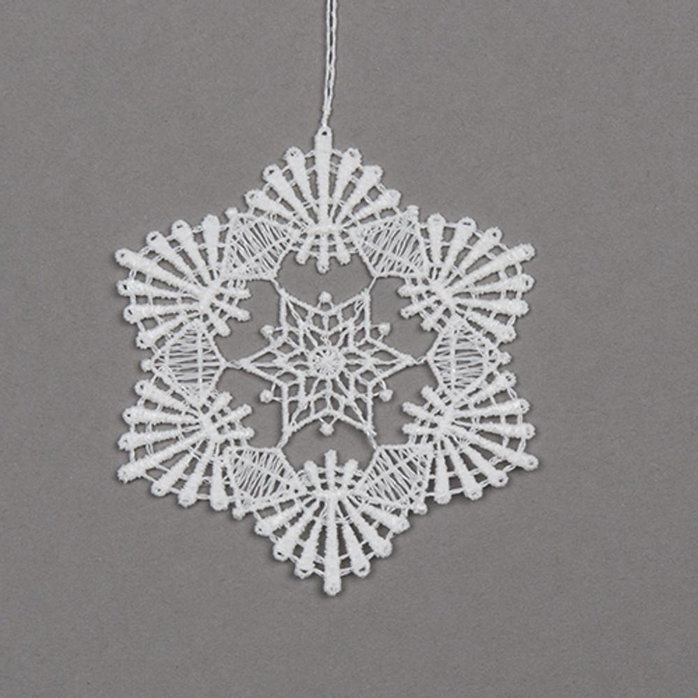 Snowflake Linen Ornament