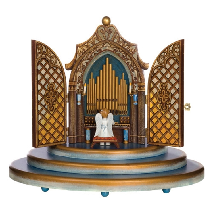 Organ Music Box with Yellow Stars Angel