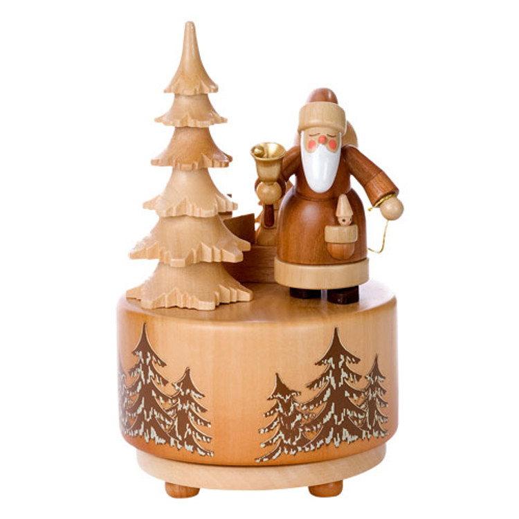 Natural Santa Music Box
