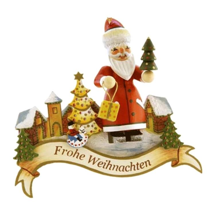 Santa Wishing Frohe Weihnachten