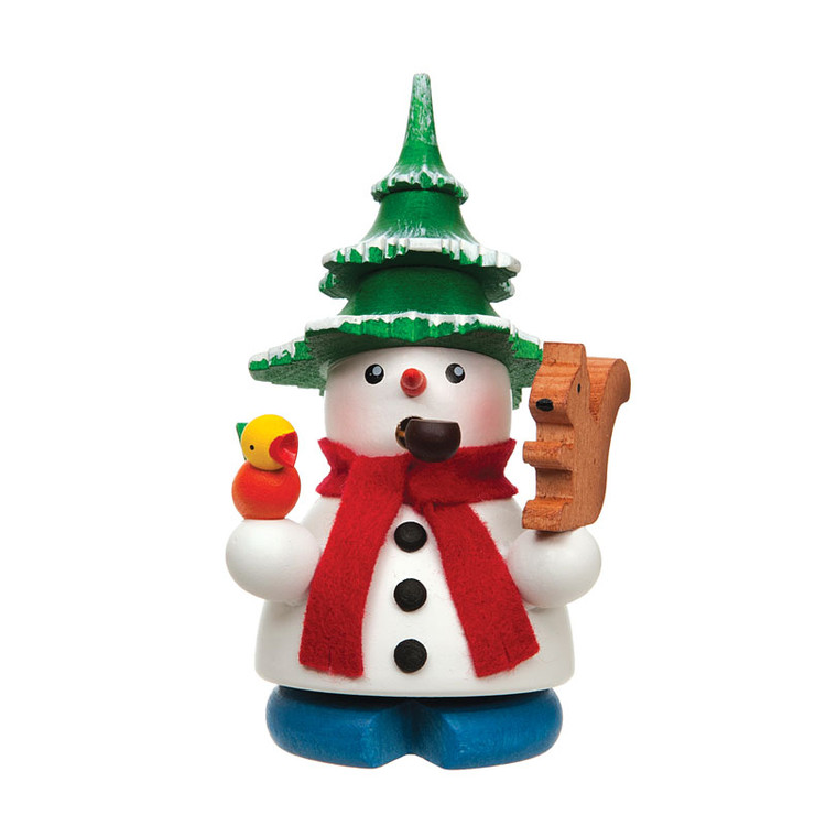 Snowman with Tree Hat Incense Smoker