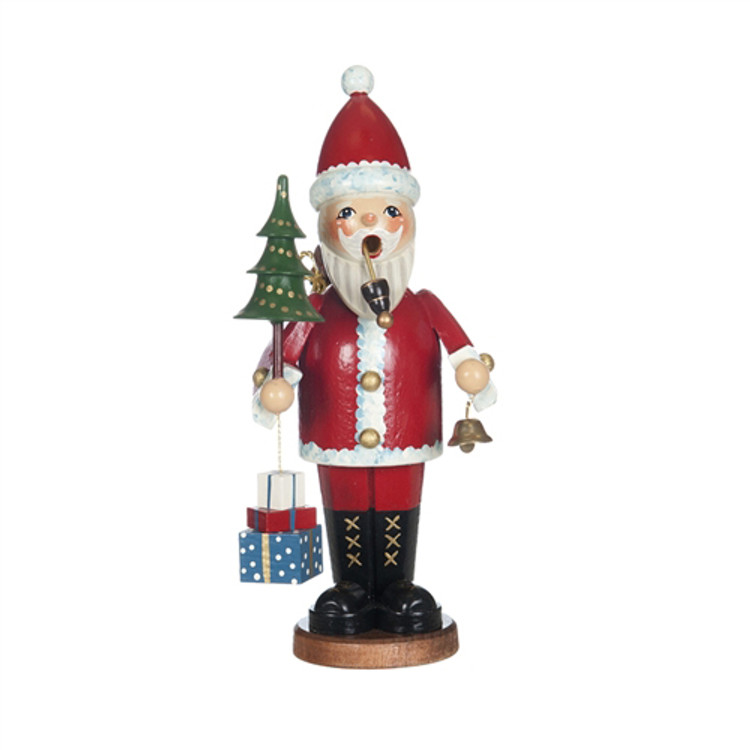Santa Claus with Tree and Gift Boxes