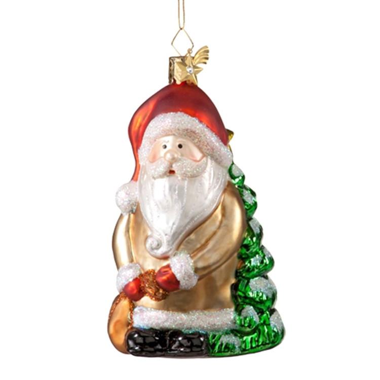 Santa with Bag and Tree
