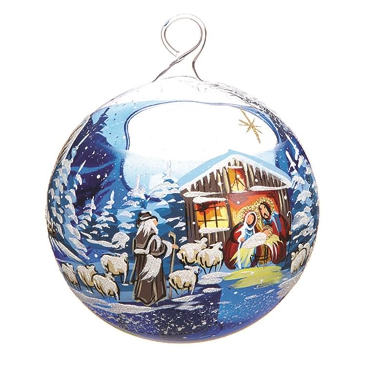 Manger Scene Candleholder Ornament