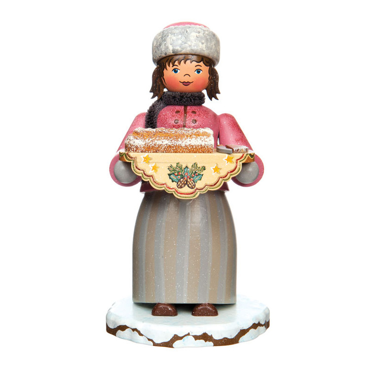 Girl with Stollen Bread